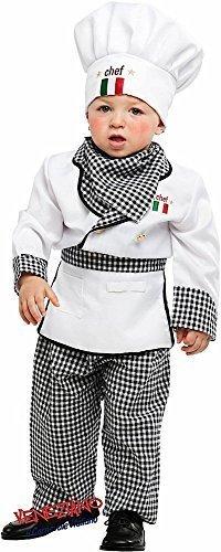 Koch-kostüm Baby (Deluxe Italienisch Made Baby Kleinkind Jungen Mädchen Chef Koch Verkleidung Kostüm Kleidung 0-36 Monate - 3 years)