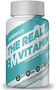 Bigmuscles Nutrition The Real Vitamin Advanced Multivitamin [60 Servings, Chocolate Flavoured]   Immunity Boos