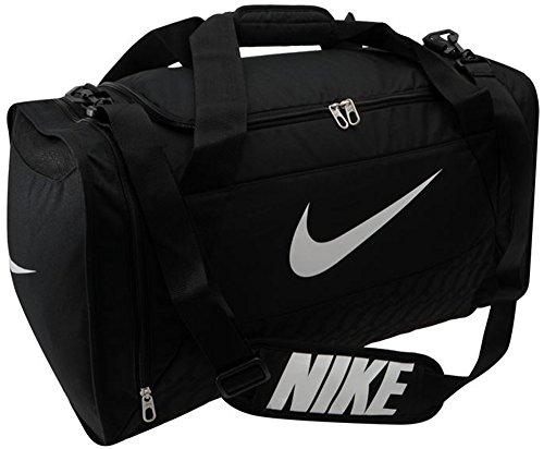 Nike Brasilia Sport- und Reisetasche mit Logo, 6Medium, Tragetasche mit Griff, schwarz, W58 x D30 x H32 cm (Nike 1 2 Zip)