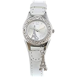 Claire's Girls and Womens White Parisian Charm Wrist Watch in White Colour