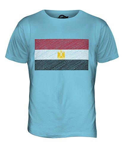 CandyMix Ägypten Kritzelte Flagge Herren T Shirt Himmelblau