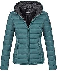 Marikoo Damen Jacke Steppjacke Übergangsjacke gesteppt B651 [B651-Luc-Ocean-Green-Gr.S]