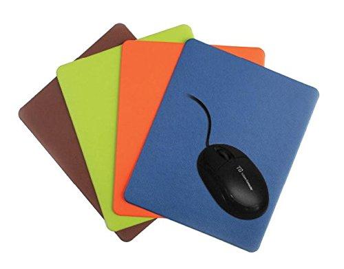 Hestia Farbe Leder Schreibunterlage Rutschfeste chamois Leder Kleine Größe Mouse pad - Brown -