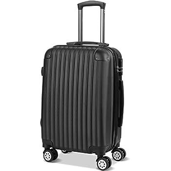 valise cabine 55 cm abs bagage cabine rigide 4 roues avion ryanair 4 couleurs 40l blue amazon. Black Bedroom Furniture Sets. Home Design Ideas