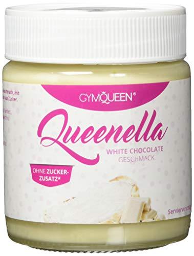 GymQueen QUEENELLA White | High Protein Creme | 22g Protein | ohne Zuckerzusatz | Brotaufstrich Weiße Schokolade | 250g