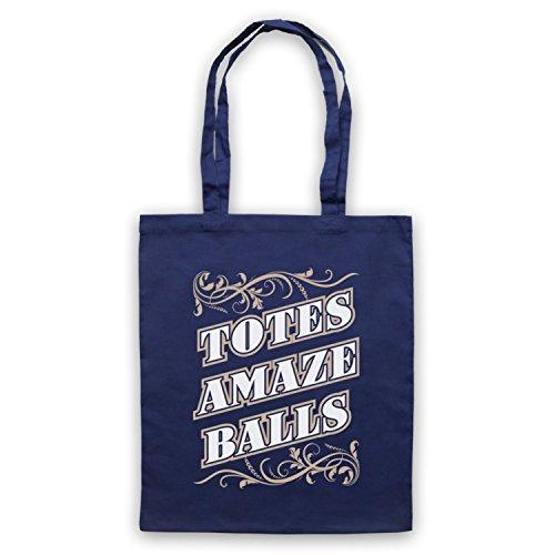 Slogan Amazeballs Totes Tote Bag Blu navy