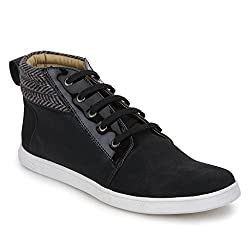 Knotty Derby Mens Black Sneakers - 9 UK/India (43 EU)