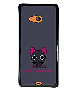 PrintVisa Designer Back Case Cover for Microsoft Lumia 540 Dual SIM (Mouse Rat Bats Happy Scary)
