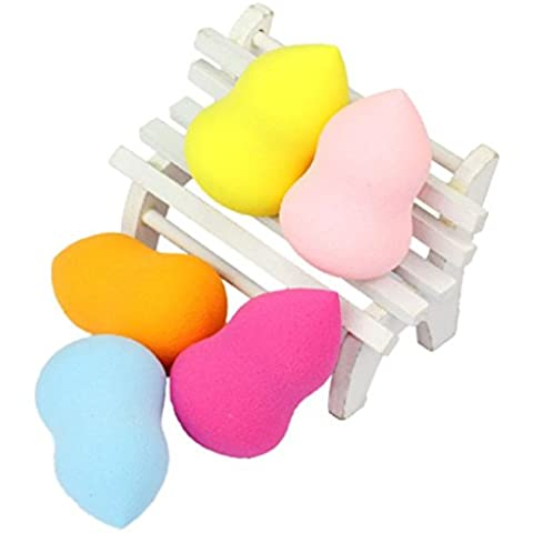 Ularma Lindo 5pcs pro belleza Impecable botella calabaza esponja maquillaje Foundation Puff