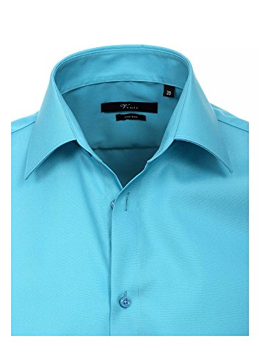 Venti - Chemisier Business - coupe cintrée - Col Chemise Classique - Manches Longues Homme bleu pétrole