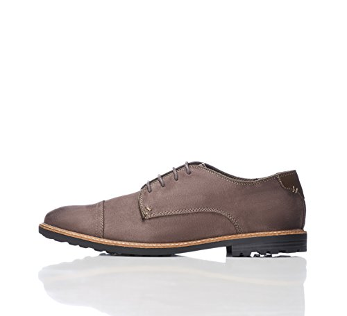 FIND Herren Derby Schuhe, Grau (Grey), 42 EU (Grau Schuhe Herren)