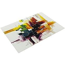 Paco Home Tapis Moderne Splash De Marque Coloré Brosse Neuf EO, Dimension:120x170 cm