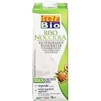 Isola Bio Bebida Vegetal de Arroz con Avellanas - Paquete de 6 x 1000 ml -