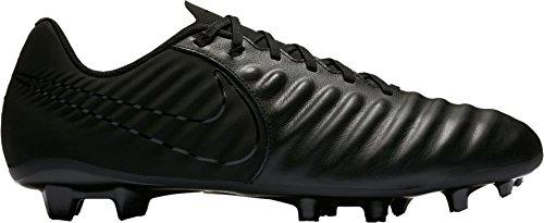 Nike tiempo ligera iv fg, scarpe da calcio uomo, nero (black/black/black 001), 43 eu