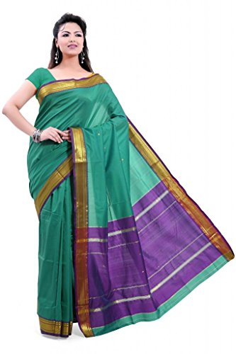 ISHIN Poly silk Paithani Green Saree-STCS-21  available at amazon for Rs.799