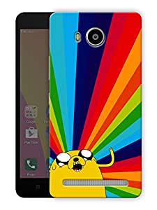 "Humor Gang tripped out cartoon - yellow Printed Designer Mobile Back Cover For ""Lenovo A7700"" (3D, Matte Finish, Premium Quality, Protective Snap On Slim Hard Phone Case, Multi Color)"