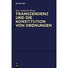 Transzendenz und die Konstitution von Ordnungen