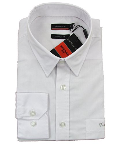"""PIERRE CARDIN """"normale"""" camicia a maniche lunghe da uomo classico (bianco) con"""