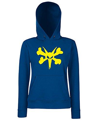 T-Shirtshock - Sweats a capuche Femme FUN0839 bones 95377 Bleu Navy