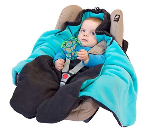 """ByBoom® – Baby Winter-Einschlagdecke """"Das Original mit dem Bären"""", Universal für Babyschale, Autositz, z.B. für Maxi-Cosi, Römer, für Kinderwagen, Buggy oder Babybett, Farbe:Anthrazit/Grau - 9"""