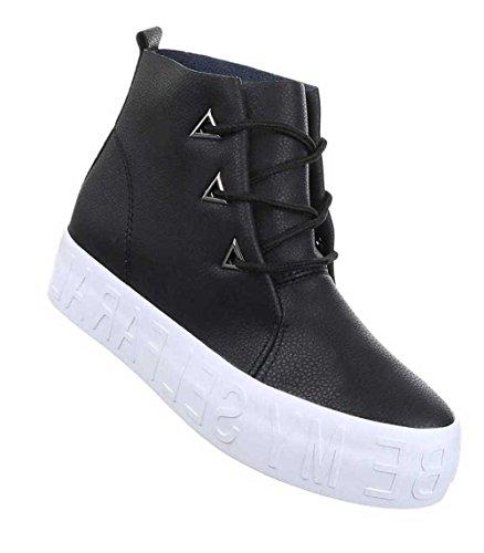 Damen Freizeitschuhe Schuhe Sneaker High-Top Sneakers Schwarz