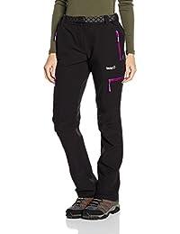Izas Wengen Pantalón de montaña, Mujer, Negro/ Morado, XL
