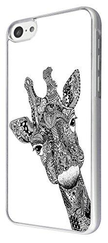 613-Aztec Girafe Face Coque iPhone 5C Design Fashion Trend Case Back Cover Métal et Plastique