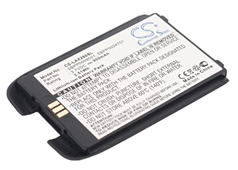 techgicoo 950mAh Batterie Compatible avec LG AX260, LX260, UX260, Rumor, Pelle, Pelle Noir