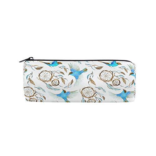 Ahomy Estuches de lápices atrapasueños pájaros con cremallera bolsa para adolescentes niñas y niños, bolsa de viaje de maquillaje para mujeres