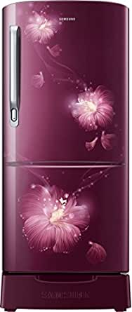 Samsung 192 L 4 Star Direct-Cool Single-Door Refrigerator (RR20M182YR3/HL, Rose Mallow Plum)