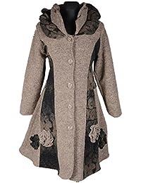 Damen Wolle Lagenlook Patchwork Wintermantel Mantel Swinger 38 40 42 44 46  48 S M L XL XXL cc6489c043