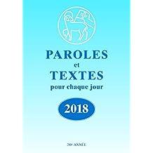 Die Losungen 2018. Deutschland / Paroles et Textes