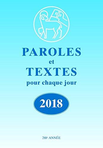 Paroles et Textes 2018. Die Losungen: französische Ausgabe