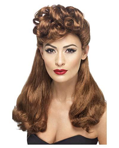 Rockabilly Perücke Lang - Pin Up Girl Kostüm 40er Jahre