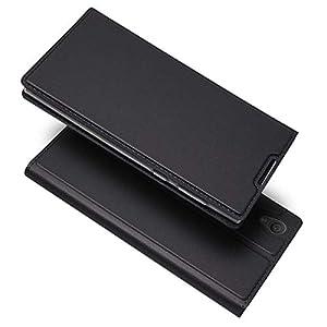 Thrion Sony Xperia L1 Hülle Handyhülle Der Schlanke Leder Brieftasche für Sony Xperia L1 – Schwarz
