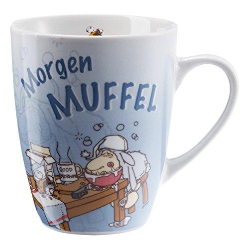 NICI Tasse Morgenmuffel Kaffeetasse, Becher, Schaf, Geschenk, Kaffeebecher, 270 ml, 39889