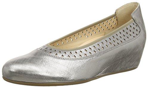 Hassia Damen Nizza, Weite H Geschlossene Ballerinas Silber