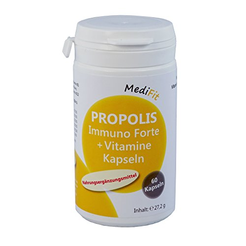 MediFit Propolis Immuno Forte, Vitamine Kapseln, 1er Pack (1 x 60 Stück)