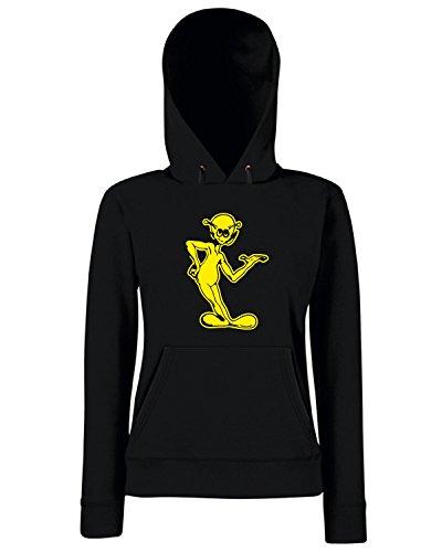 T-Shirtshock - Sweats a capuche Femme FUN0548 alien printed on white decals 1 49324 Noir