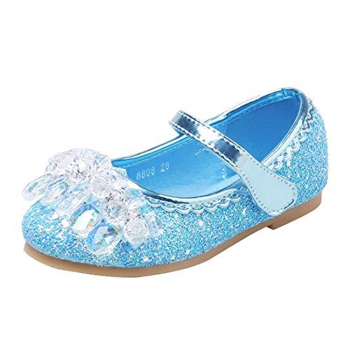 ON Prinzessin Schuhe Mädchen Pailletten Schuhe Kinder Klettverschluss Schuhe Formale Party Schuhe Ballerinas -