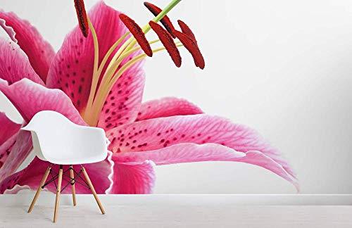 Zuhause Blumentapete Pink Lily Wallpaper Wandbild 300x210cm Lily Dessert