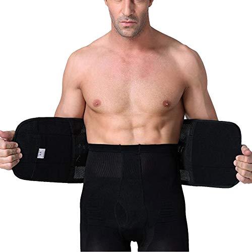 QitunC Gewichtheben Gürtel Lendenwirbelstütze Taillentrimmer Mit Atmungsaktive Mesh-Panels Für Männer Schwarz XXL