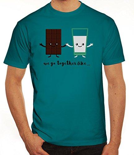 Valentinstag Herren T-Shirt mit Chocolate + Milk Motiv von ShirtStreet Diva