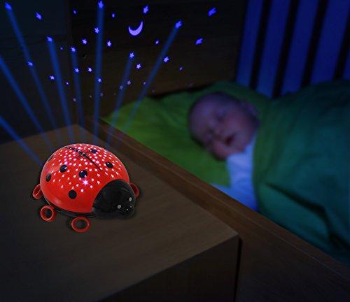 ANSMANN Sternenlicht Marienkäfer LED Sternenhimmel-Projektor Nachtlicht Lampe Einschlafhilfe für Baby/Kinder/Erwachsene – Testsieger (Vergleich.org 03/2017) - 4