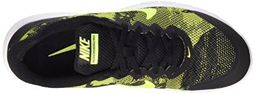Nike Flex Experience Rn 4 Prem, chaussure de course homme noir / Vert / Blanc (Black / Volt-Blanc)