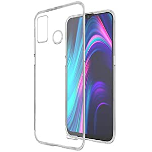 Amazon Brand - Solimo Mobile Cover for Micromax in 1b (Soft & Shockproof Back Case with inbuilt Cushioned Edges), Transparent