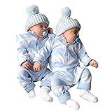 TEBAISE Weihnachten Baby Strampler Jungen Mädchen Overall Winter Babykleidung