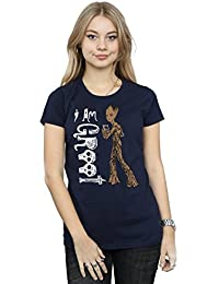 Marvel Mujer Avengers Infinity War I Am Teenage Groot Camiseta