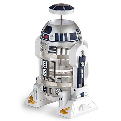 Star Wars Kaffee (Star Wars Maschine Kaffeemaschine Glas+Edelstahl Kolben Filter Kaffeemaschine Isolierung Topf 960 ML)