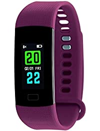 TIMEWEAR Fitness Tracker Smart Purple Band-Colored Display-Heart Rate-Calorie Burned-Step Count-Sleep-Monitor-Unisex...